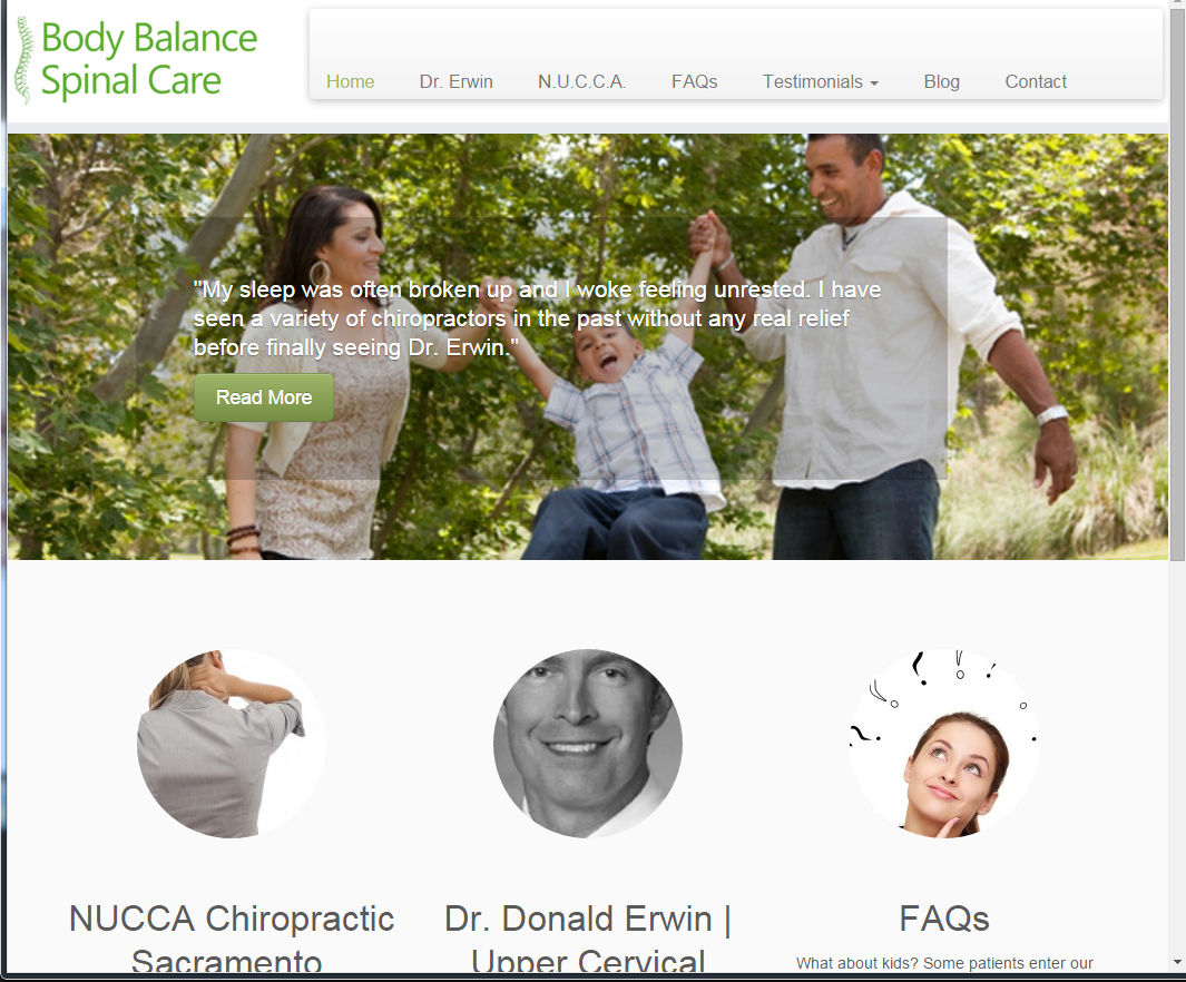 body balance spinal care