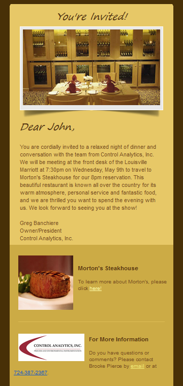 Mortons Invitation